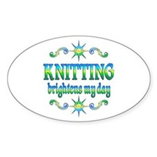 Knitting Brightens Decal