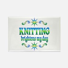 Knitting Brightens Rectangle Magnet