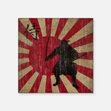 "Vintage Samurai Square Sticker 3"" x 3"""