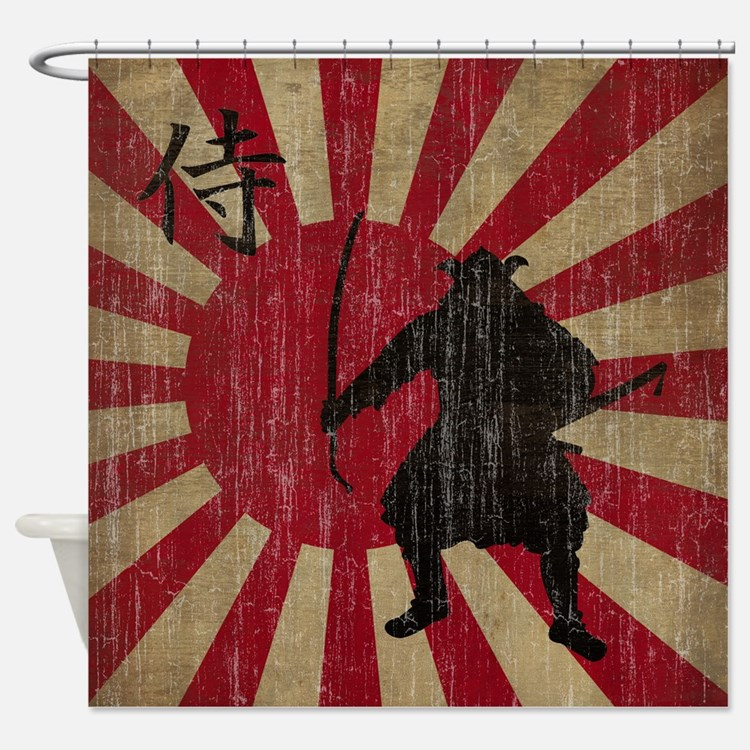 Vintage Samurai Shower Curtain