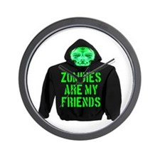Zombies Are My Friends Wall Clock