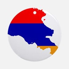 Armenia Flag and Map Ornament (Round)