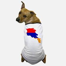 Armenia Flag and Map Dog T-Shirt