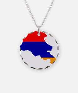 Armenia Flag and Map Necklace