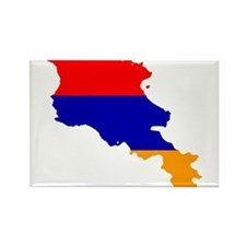 Armenia Flag and Map Rectangle Magnet