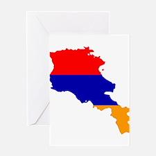 Armenia Flag and Map Greeting Card
