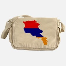 Armenia Flag and Map Messenger Bag
