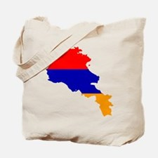 Armenia Flag and Map Tote Bag
