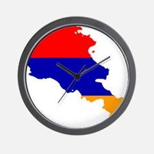 Armenia Flag and Map Wall Clock