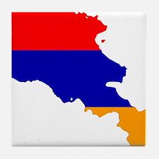 Armenia Flag and Map Tile Coaster