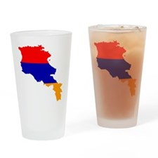 Armenia Flag and Map Drinking Glass