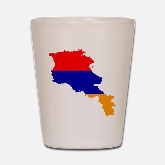 Armenia Flag and Map Shot Glass