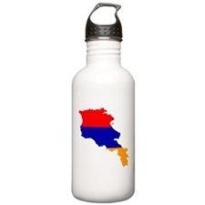 Armenia Flag and Map Water Bottle