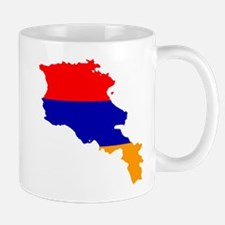Armenia Flag and Map Mug