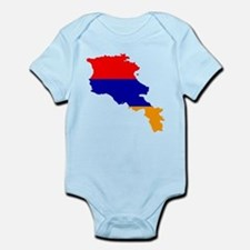 Armenia Flag and Map Infant Bodysuit