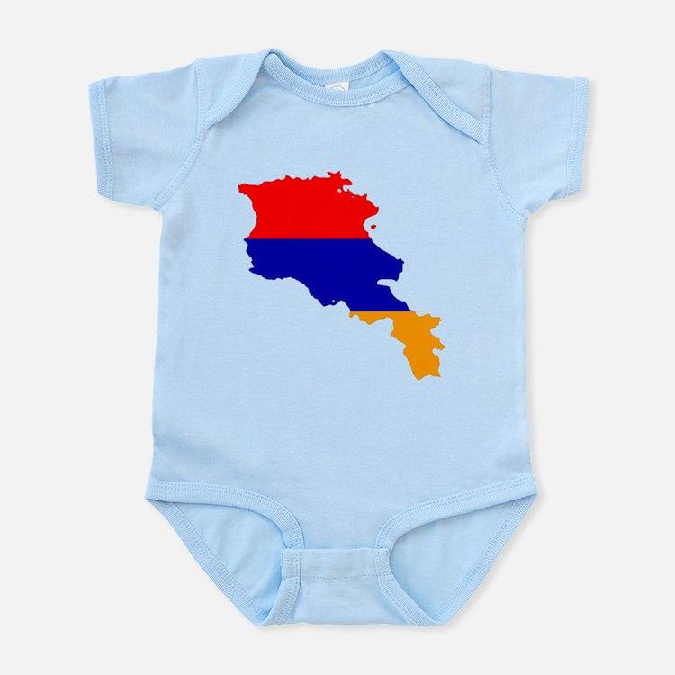 Armenia Flag and Map Infant Bodysuit