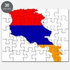 Armenia Flag and Map Puzzle