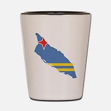 Aruba Flag and Map Shot Glass