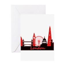 London landmarks tee 3cp.png Greeting Card