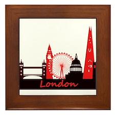 London landmarks tee 3cp.png Framed Tile