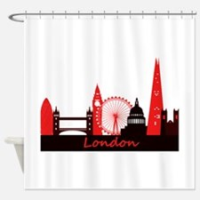 London landmarks tee 3cp.png Shower Curtain