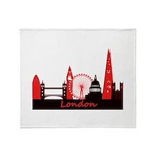 London landmarks tee 3cp.png Throw Blanket