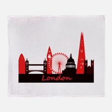 London landmarks tee 3cp.png Throw Blanket