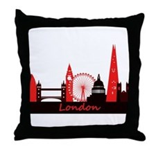 London landmarks tee 3cp.png Throw Pillow