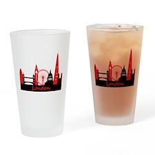 London landmarks tee 3cp.png Drinking Glass