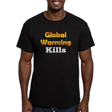 Global Warming Kills Men's Fitted T-Shirt (dark)