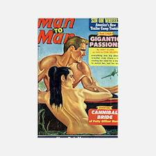 MAN TO MAN, January 1965 Rectangle Magnet