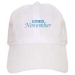 Due In November - Blue Baseball Cap