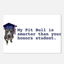 Pit Bull is smarter Postcards (Package of 8)