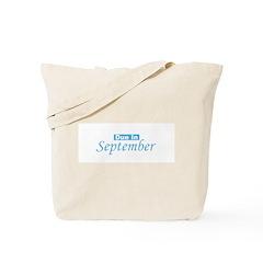 Due In September - Blue Tote Bag