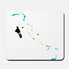 Bahamas Flag and Map Mousepad
