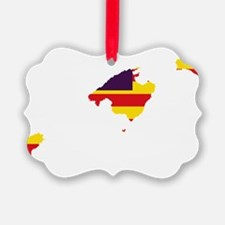 Balearic Islands Flag and Map Ornament