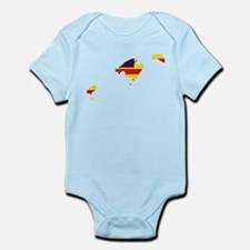 Balearic Islands Flag and Map Infant Bodysuit