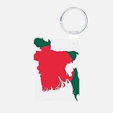 Bangladesh Flag and Map Keychains