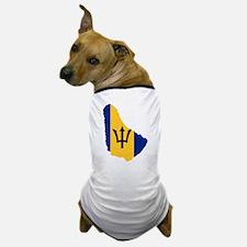 Barbados Flag and Map Dog T-Shirt