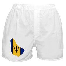 Barbados Flag and Map Boxer Shorts