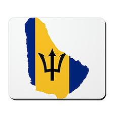 Barbados Flag and Map Mousepad