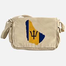 Barbados Flag and Map Messenger Bag