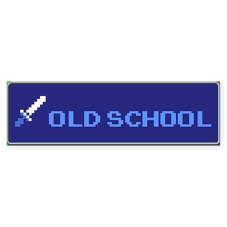Old School Gamer Bumper Sticker