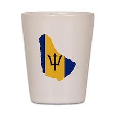 Barbados Flag and Map Shot Glass