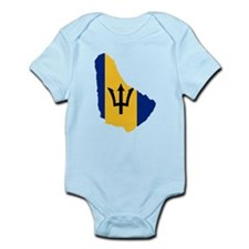 Barbados Flag and Map Infant Bodysuit