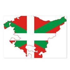 Basque Community Flag and Map Postcards (Package o