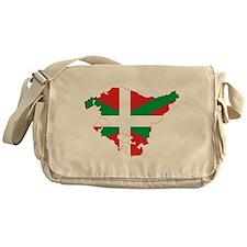 Basque Community Flag and Map Messenger Bag