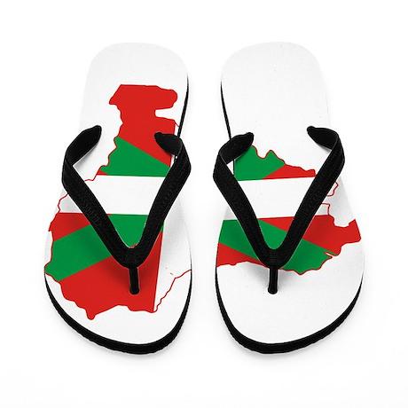 Basque Community Flag and Map Flip Flops