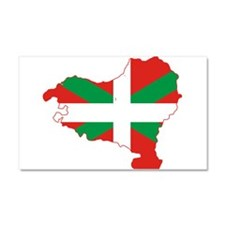 Basque Community Flag and Map Car Magnet 20 x 12