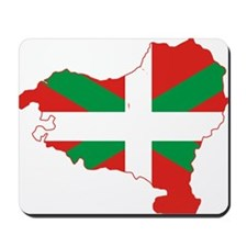 Basque Community Flag and Map Mousepad